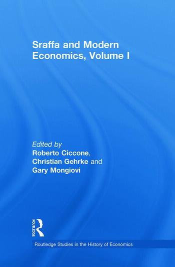 Sraffa and Modern Economics, Volume I book cover