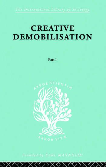 Creative Demobilisation Part 1 book cover