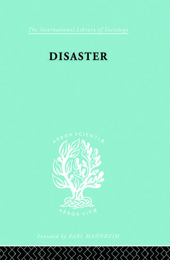 Disaster A Psychological Essay book cover