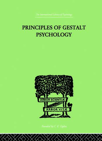 Principles Of Gestalt Psychology book cover
