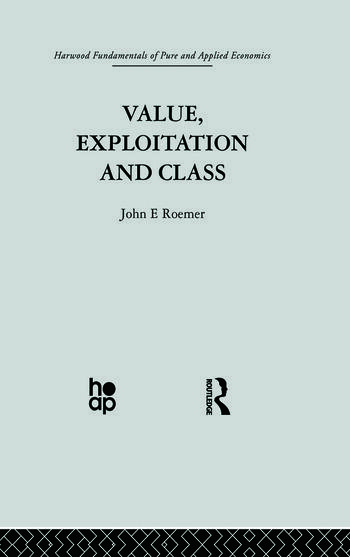 Value, Exploitation and Class book cover