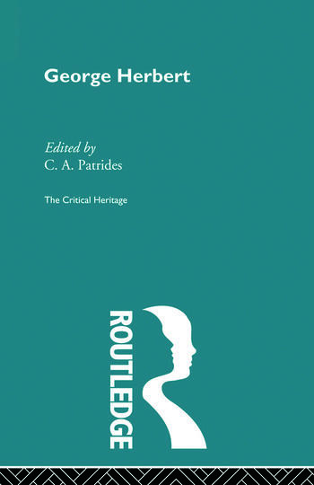 George Herbert The Critical Heritage book cover