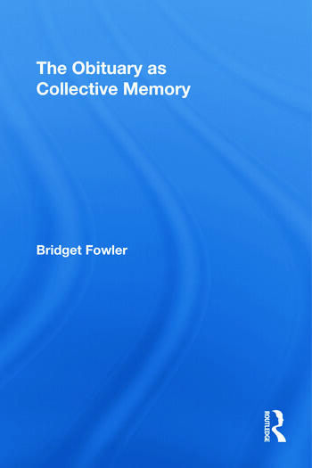 The Obituary as Collective Memory book cover