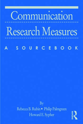 Communication Research Measures A Sourcebook book cover