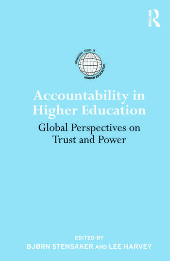 Accountability in Higher Education Global Perspectives on Trust and Power book cover