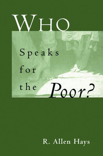 Who Speaks for the Poor National Interest Groups and Social Policy book cover