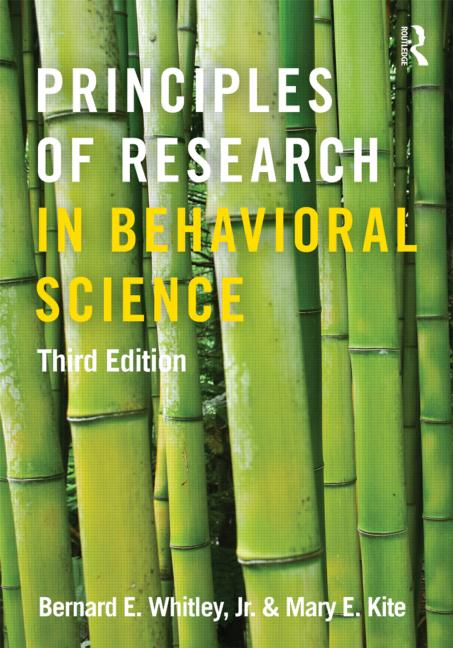 Principles of Research in Behavioral Science Third Edition book cover