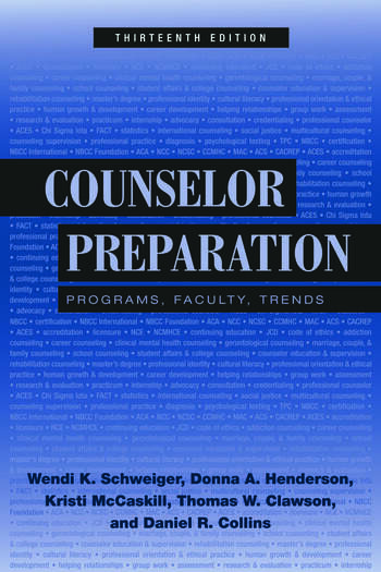 Counselor Preparation Programs, Faculty, Trends book cover