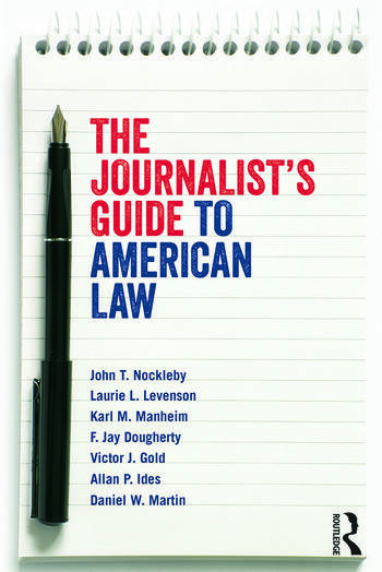 The Journalist's Guide to American Law book cover