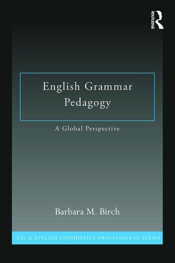 English Grammar Pedagogy A Global Perspective book cover
