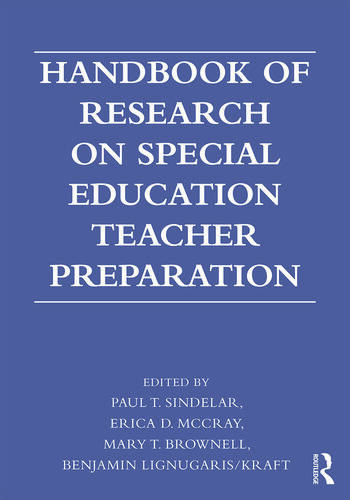 Handbook of Research on Special Education Teacher Preparation book cover