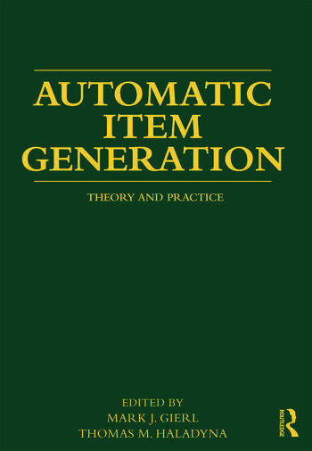 Automatic Item Generation Theory and Practice book cover