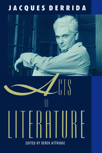 Acts of Literature book cover