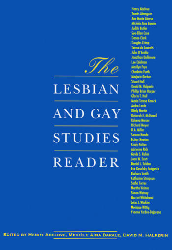 The Lesbian and Gay Studies Reader book cover