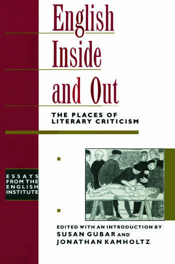English Inside and Out The Places of Literary Criticism book cover