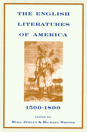 The English Literatures of America 1500-1800 book cover
