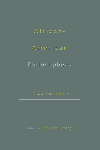 African-American Philosophers 17 Conversations book cover
