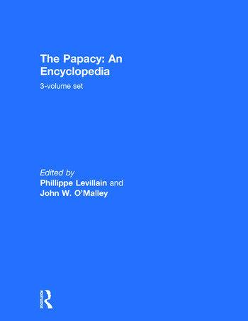The Papacy: An Encyclopedia 3-volume set book cover