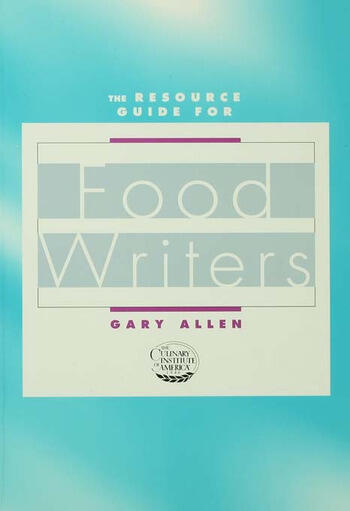 Resource Guide for Food Writers book cover