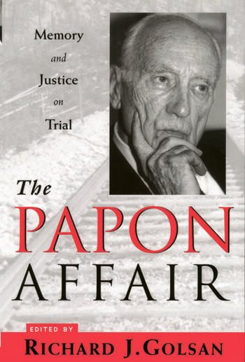 The Papon Affair Memory and Justice on Trial book cover
