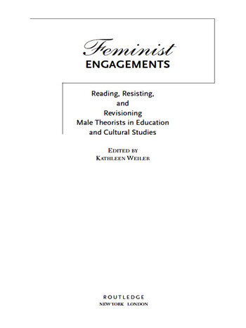 Feminist Engagements Reading, Resisting, and Revisioning Male Theorists in Education and Cultural Studies book cover