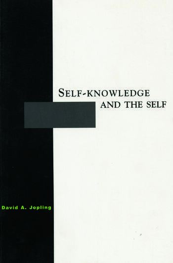 Self-Knowledge and the Self book cover