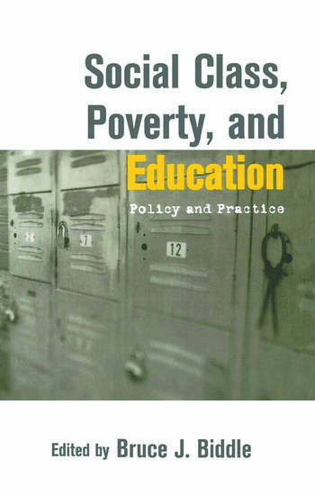 Social Class, Poverty and Education book cover