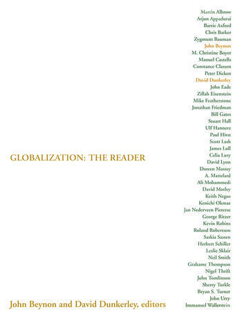 Globalization: The Reader book cover