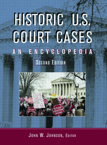 Historic U.S. Court Cases An Encyclopedia book cover