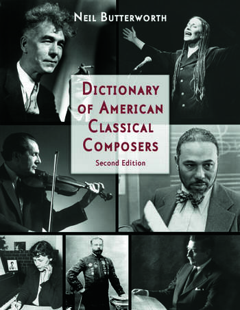 Dictionary of American Classical Composers book cover