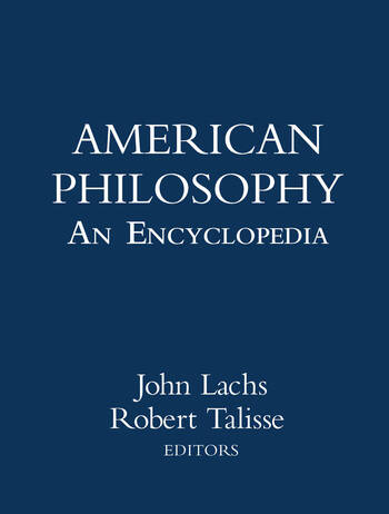 American Philosophy: An Encyclopedia book cover