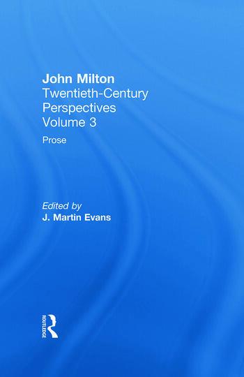 Prose John Milton: Twentieth Century Perspectives book cover