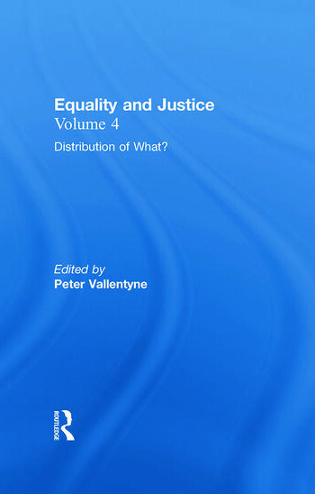Distribution of What? Equality and Justice book cover