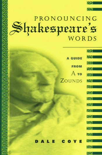 Pronouncing Shakespeare's Words book cover