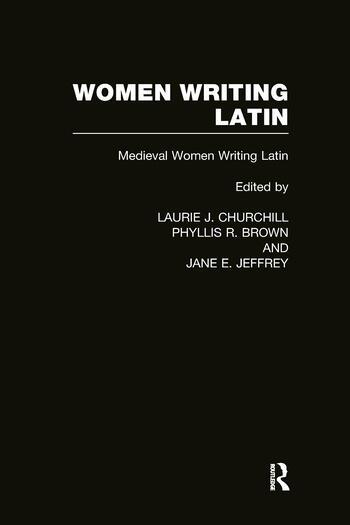 Women Writing Latin Medieval Modern Women Writing Latin book cover