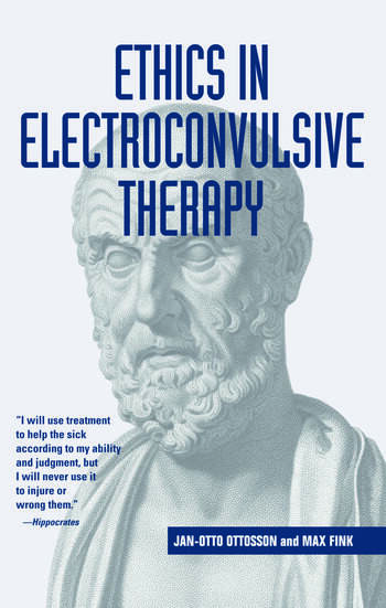 Ethics in Electroconvulsive Therapy book cover