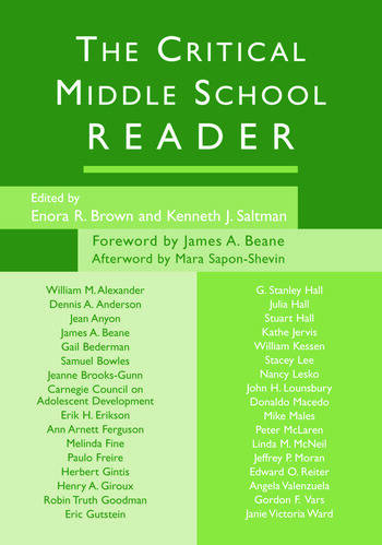 The Critical Middle School Reader book cover