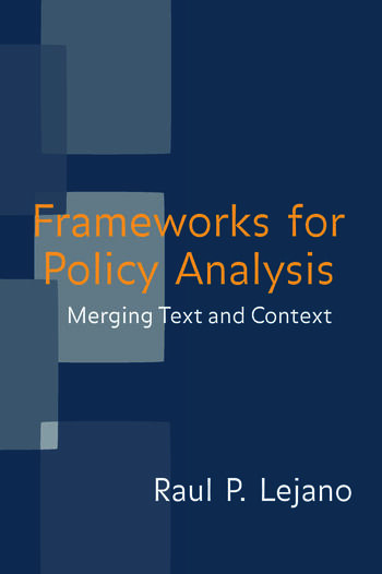 Frameworks for Policy Analysis Merging Text and Context book cover