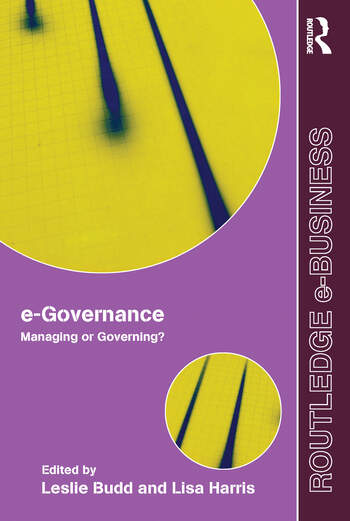 e-Governance Managing or Governing? book cover