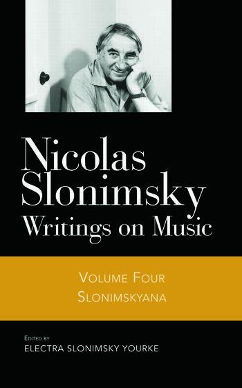 Slonimskyana V4 book cover