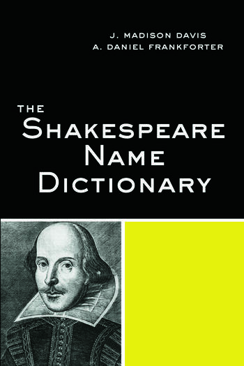 The Shakespeare Name Dictionary book cover