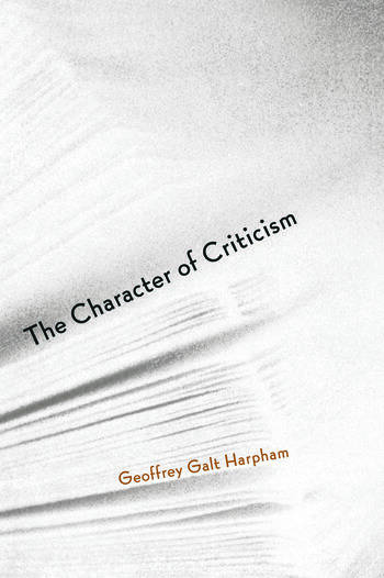 The Character of Criticism book cover