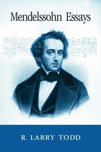 Mendelssohn Essays book cover