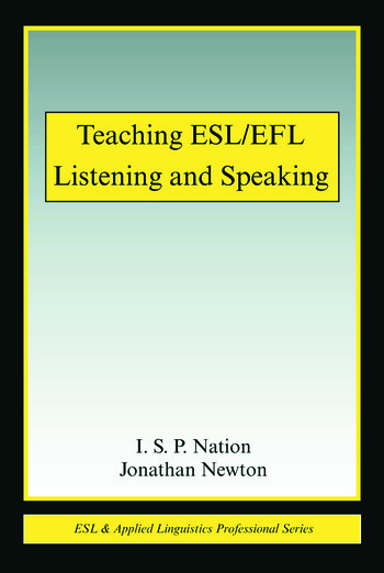 Teaching ESL/EFL Listening and Speaking book cover