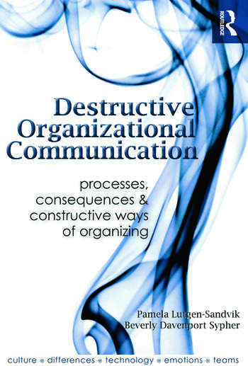 Destructive Organizational Communication Processes, Consequences, and Constructive Ways of Organizing book cover