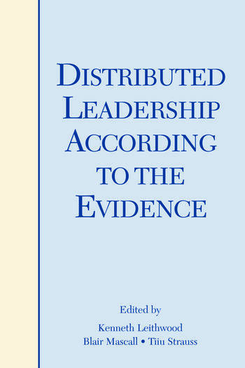 Distributed Leadership According to the Evidence book cover