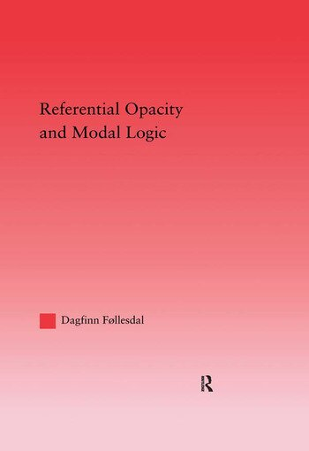 Referential Opacity and Modal Logic book cover