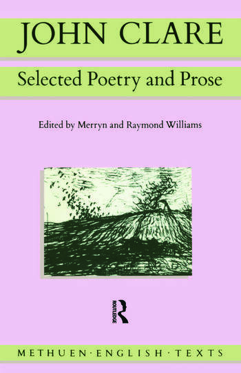 John Clare Selected Poetry and Prose book cover
