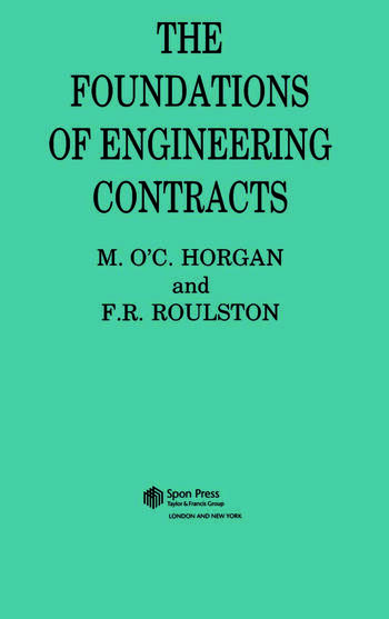 The Foundations of Engineering Contracts book cover