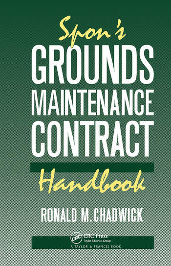 Spon's Grounds Maintenance Contract Handbook book cover